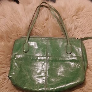 Green Hobo purse, soft leather
